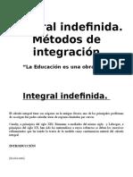 Integral Indefinida Metodos