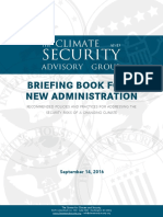 The Climate and Security Advisory Group - Briefing for Book for New Administration - 14 September 2016