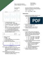 Matlab Activity 1&2