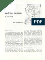 Vekemans Roger, Doctrina Ideologia y Politica