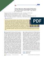 Part per Trillion Label-Free Electronic Bioanalytical Detection
