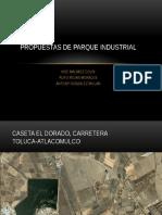 Propuestas de Parque Industrial