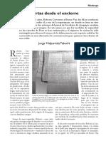 Cartas desde el encierro - Revista Náufrago (Junio 2016)