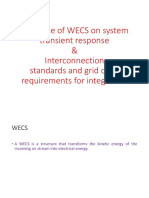 Influence of WECS on System Transient Response