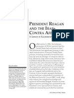 President Reagan and the Irancontra Affair a Lesson in Leadership Failures