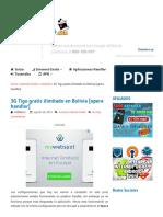 3G Tigo Gratis Ilimitado en Bolivia [Opera Handler]