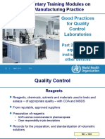 WHO- Good Practices for Quality Control Laboratories. Part 2