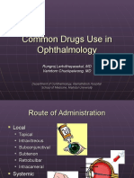 Common Drugs Use in Ophthalmology