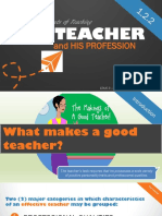 Elements of Teaching - The Teacher ( Principles of Teaching 1)