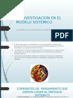 La Investigación en El Modelo Sistémico