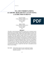 Gordon & Porter - Reading and Understanding Academic Research