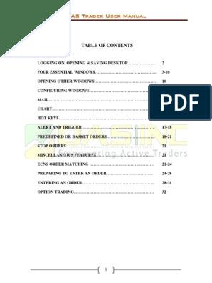 DAS Trader User Manual | Order (Exchange) | Software