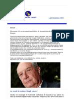 Newsletter 39 Octobre 2016 FR