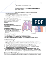 Respiratory Physiology note