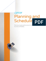 Epicor ERP Planning and Scheduling Suite