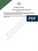 Sample Proficiency Test1 2015-2016