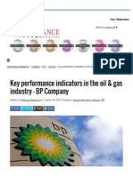 Key Performance Indicators in the Oil & Gas Industry – BP Company - Performance Magazine