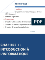 Chapitre1 Introduction Linformatique
