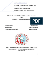 A DISSERTATION REPORT on STUDY of Int Trade Its Direction and Composition