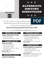 Updated Ride the Rockies Alternate Driving Directions