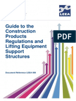 LEEA-058 Guide to the Construction Products Regulations and Lifting Equipment Support Structures