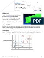 Deformations Finite Element Coordinate Mapping