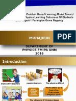 Muhajirin Icmstea 2016 Fmipa Unm