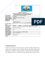 Biotechnology Course Guide
