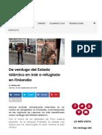 De Verdugo Del Estado Islámico en Irak a Refugiado en Finlandia - MINUTODIGITAL