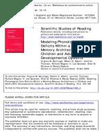 Berninger Et Al (2006) Working Memory, Dyslexia, RAS