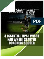 3 Tips eBook Metodo Coerver