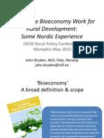 Making Bioeconomy Work for Rural Development JohnBryden