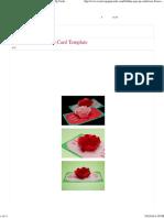 Rose Flower Pop Up Card Template Creative Pop Up Cards