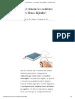 ¿Qué Piensan Los Escritores de Los Libros Digitales_ _ Poemas Del Alma