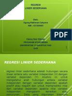 Regresi Linier Sederhana PPT