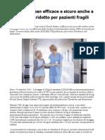 TEV Edoxaban Efficace e Sicuro Anche a Dosaggio Ridotto Per Pazienti Fragili