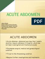 01- Acute Abdomen