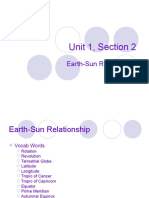 astronomy unit 1 3 - earth-sun relationship