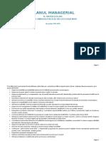 Plan Managerial Balcescu