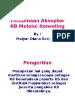 Pembinaan Akseptor KB Melalui Konseling