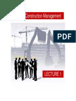 CM Lecture 1