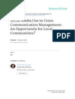 Social Medio Use in Crisis