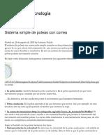 Sistema Simple de Poleas Con Correa