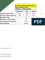 Cost Sheet November 2014