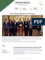 Boletín de noticias KLR 03OCT2016