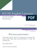 Igcse Eng Lang Punctuation