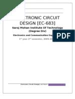 Electronics Circuit Design Lab