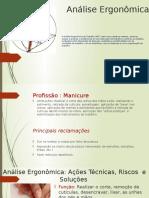 Análise Ergonômica Manicure