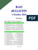 Bulletin 161001 (PDF Edition)