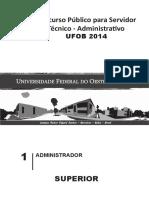 Ufob - Prova - Administrador - Nível Superior